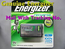 Genuine Energizer Rechargeable 9V 9 V 175 mAh NiMH NI-MH Battery W/TrackNo