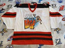 "Taz ""Livin' on the Edge"" Looney Tunes Hockey Jersey Men's Large 1996 Varsity #1"