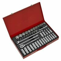 "Sealey AK6941 Socket Set 46pc 1/2""Sq Drive 6pt WallDrive® - Metric"