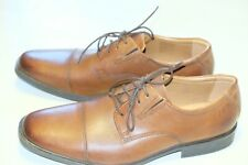 Clarls Soft collection tan leather mens formal shoes size 8.5/42.5 G