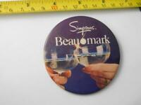 SIMPSONS BEAUMARK CHAMPAGNE CELEBRATION 1981 VINTAGE STORE EMPLOYEE BUTTON PIN