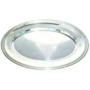 "Christofle Silverplate Vibrations Oval Serving Platter, 14 3/4"" x 21 1/2"" Across"