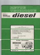 REVUE TECHNIQUE Diesel Mercedes benz Chassis 1419 1619-K-S OM 401 RTD camion