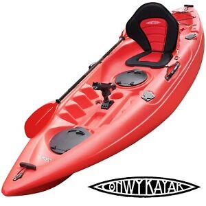 CONWY KAYAK - MENAI - SIT ON TOP FISHING SEA RIVER KAYAKS DELUXE SEAT & PADDLE