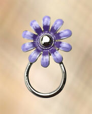 NEW Pretty Lilac & Purple Flower Eye Glasses Spectacle Hanger Brooch Pin Holder