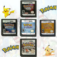 Nintendo DS - Pokemon Games; HeartGold SoulSilver Platinum Diamond Pearl
