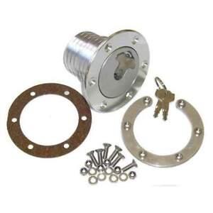"Locking Aluminium Fuel Filler Cap Complete Kit 3"" Rally Race"
