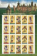Scott # 3076a - 32 Cent American Indian Dances - Mint Sheet - Cat. $25.00