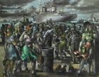 Reginald Marsh The Rex Passes The Battery Canvas Print 16 x 20       # 6238