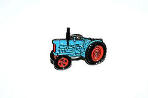 Vintage Fordson Major Tractor Pin Badge Gift Novelty Blue Farming Enamel Metal
