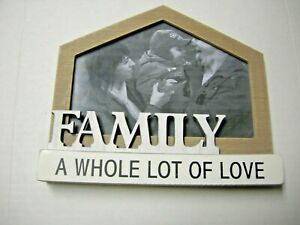 """Picture Frame, """"Family A Whole Lot of Love,"""" 8.5"""" x 7"""", Brand New"""
