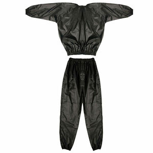 Sauna Sweat Suit Fitness Slimming Weight Loss Exercise Running Boxing Top Set