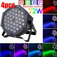 4pcs 36 LED RGB PAR CAN DJ Stage DMX Lighting For Disco Party Wedding Uplighting