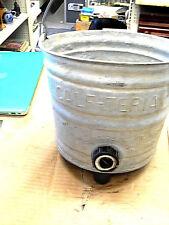1950s Vintage Rustic Farm Decor Galvenized CALF-TERIA  Feeding Bucket Original#8