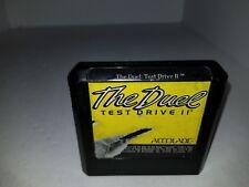 RARE The Duel Test Drive II Sega Genesis Yellow Accolade Cartridge Only C22