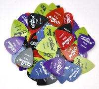 100pcs 0.58-1.5mm Alice Glossy Nylon Guitar Pick Plectrum Acoustic Guitar Bass E