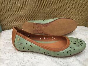 Pikolinos Pisa Ballet Flats Leather Cut Details Pumps Shoes Sz 41 UK8