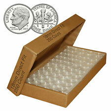 Direct-Fit Airtight A18 Coin Capsule Holders For DIMES (QTY: 250)