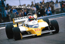 9x6 Photographie Jean Pierre Jabouille EQUIPE RENAULT RS11, French GP Dijon 1979