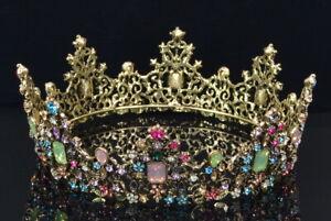 Makone aufwendige Krone Tiara Brautschmuck Hochzeit Schmuck Neu; K1 862