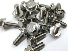 (10) M6-1.0 x 20  Metric Hex Flange Bolts STAINLESS STEEL 6mm x 20mm