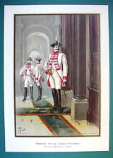 GERMAN ARMY Body-Guard of H.M. Empress. 2nd Platoon - COLOR Litho Print