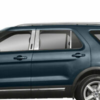 Pillar Post Covers w/Keypad Cutout for 2011-2019 Ford Explorer [Stainless] Set 6