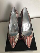 Escarpins rose rouge beige cuir FREE LANCE Paris 39 345 eur French heels 6 miu