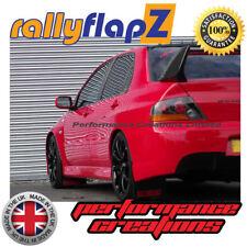 rallyflapZ Mitsubishi Lancer Evo 7-9 Mud Flaps Black Ralliart Logo Red 4mm PVC