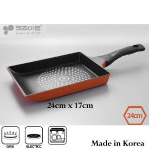 KitchenArt Egg Roll Omelette Rectangle 24cm Non Stick Pan -Made in Korea