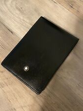 Montblanc Meisterstuck Black Leather Small Notebook/Wallet 30650 14244 1995