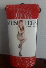 NEW ! MUSIC LEGS FANCY FISHNET STOCKINGS (RED) REGULAR SIZE