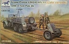 1/35 German Krupp Protze Kfz.69 Late Version w/ 3,7cm PaK 36 - Bronco 35138