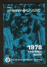 Sperry Univac--1978 Pro & College Football Guide/Schedule Booklet