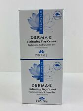 Lot Of 2 DERMA E Hydrating Day Cream with Hyaluronic Acid 2oz Exp: 11/2022