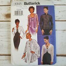 Butterick 3345 Sewing Pattern Womens Jacket Cape Size 12 14 16