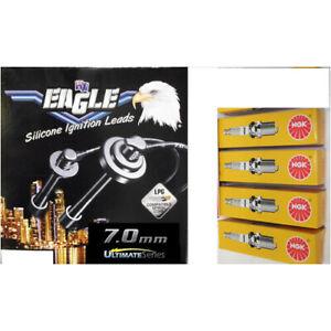 Black Eagle 7mm Ignition Leads & 4 NGK Standard Spark Plugs 74512-0 BP7ES
