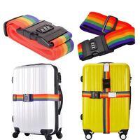 Adjustable Suitcase Luggage Baggage Straps Combination Lock Belt Tie Down Travel