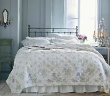 SIMPLY Shabby CHIC Patchwork Hand-Quilted BEDSPREAD Quilt 3pc Set KING-Clr-Flaw