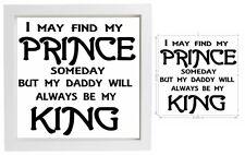 Adesivo Vinile 20x20cm FAI DA TE SCATOLA TELAIO Papà O Papà-io possa trovare il mio principe, un giorno