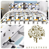 Appletree LEYTON Duvet Cover Set 100% Cotton Bedding with Pillow Cases King Size