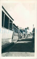 More details for 1940s st johns worker photo, st kitts wooden balconies of houses 5.5*3.5