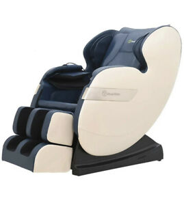 RealRelax Massage Chair Full Body Shiatsu Recliner (Bluetooth & LED Light) BLUE