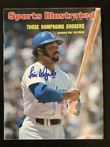 Jim Wynn Signed Sports Illustrated Mag 5/27/74 LA Dodgers No Label Autograph JSA