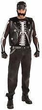 Adult Bad Biker Mesh Skeleton Bone Shirt Costume One Sz