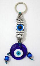 Evil Eye Blue Glass 4x11cm Amulet Charm Kabbalah Good Luck Wall Hanging Pendant