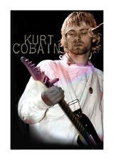 Quadro su pannello in legno MDF Kurt Cobain Cook Misura 60x90 CM