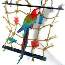 1x Acrylic Rope Net Swing Ladder Toy for Pet Parrot Birds Chew Play Climbing NEW