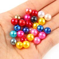 200PC Mixed Color Acrylic Loose Beads Spacer Ball 8mm For DIY Jewelry Making