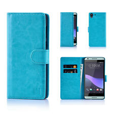 32nd Book Wallet PU Leather Case Cover for HTC 10 Screen Protector & Stylus Light Blue